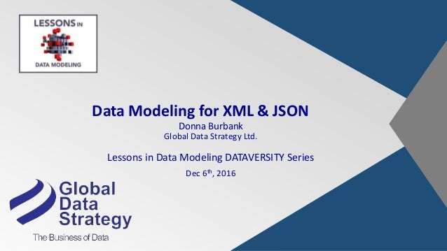 Data Modeling for XML & JSON Donna Burbank Global Data Strategy Ltd. Lessons in Data Modeling DATAVERSITY Series Dec 6th, ...