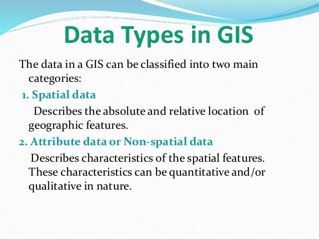 Data models in geographical information system(GIS)