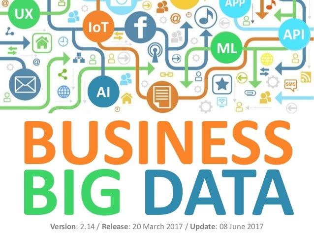 BUSINESS BIG DATAVersion: 2.14 / Release: 20 March 2017 / Update: 08 June 2017 AI IoT UX API ML APP