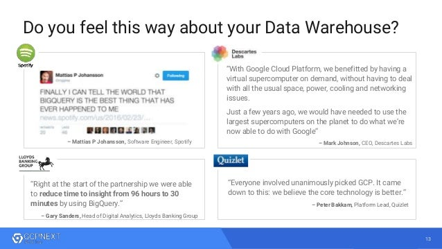 Big Data & Machine Learning Innovation with Google Cloud