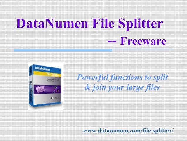 How to Split & Join Large Files