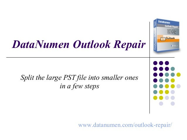 How to Split Large Outlook PST File into Small Pieces
