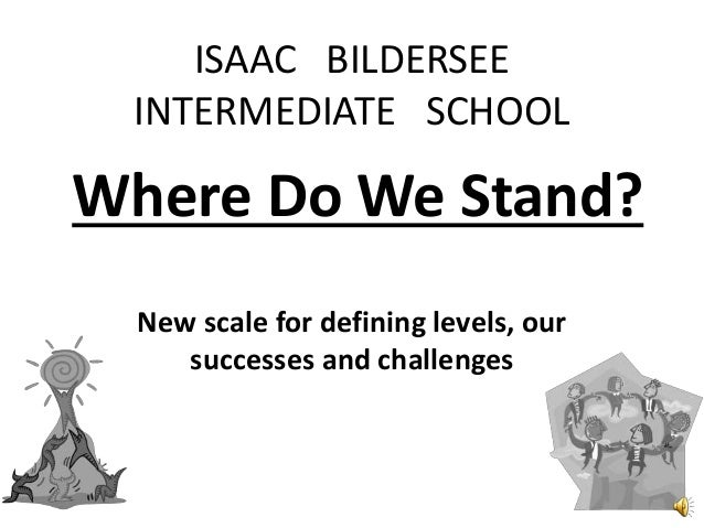 Where Do We Stand? New scale for defining levels, our successes and challenges ISAAC BILDERSEE INTERMEDIATE SCHOOL