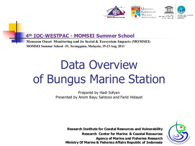 4th IOC-WESTPAC - MOMSEI Summer School Monsoon Onset Monitoring and its Social & Ecosystem Impacts (MOMSEI) MOMSEI Summer ...