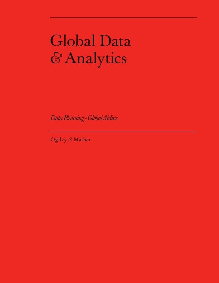 Global Data & Analytics   Data Planning - Global Airline  Ogilvy & Mather