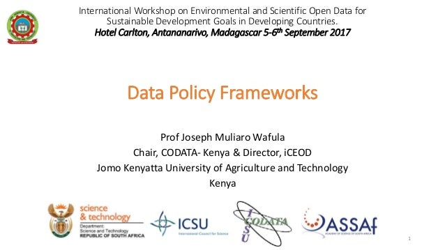 International Workshop on Environmental and Scientific Open Data for Sustainable Development Goals in Developing Countries...