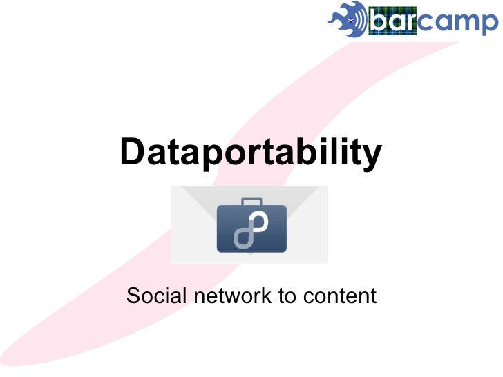 Dataportability Social network to content