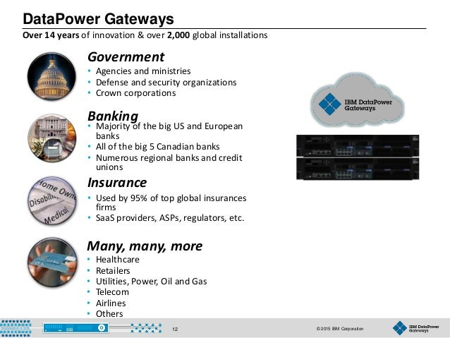 © 2015 IBM Corporation12 • Used by 95% of top global insurances firms • SaaS providers, ASPs, regulators, etc. • Agencies ...