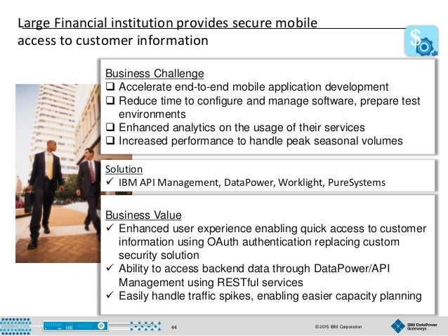 © 2015 IBM Corporation44 Business Challenge Business Challenge  Accelerate end-to-end mobile application development  Re...