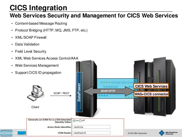 © 2015 IBM Corporation68 CICS Integration Web Services Security and Management for CICS Web Services • Content-based Messa...