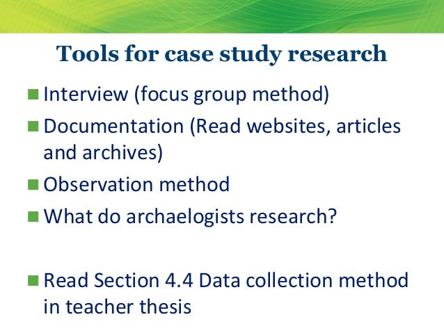 Data presentation and analysis for case study research