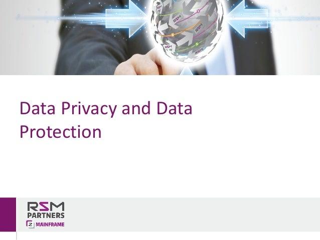 DataPrivacyandData Protection