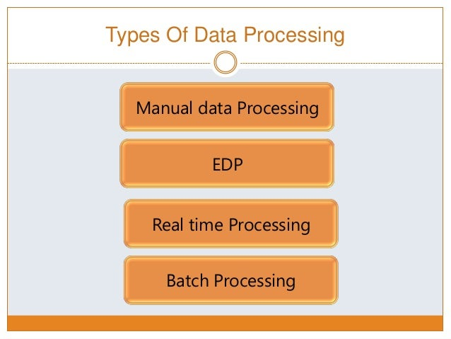 examples of manual data processing