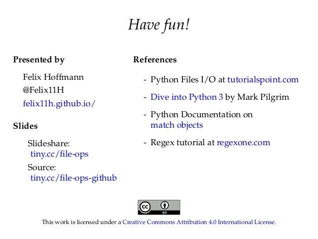 Python file operations data parsing - Dive into python ...