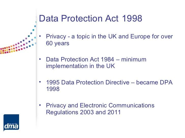 data protection act 1998 3 essay Data protection act 1998: personal information about constituents and others advice for memers and their staff data protection act 1998 3.