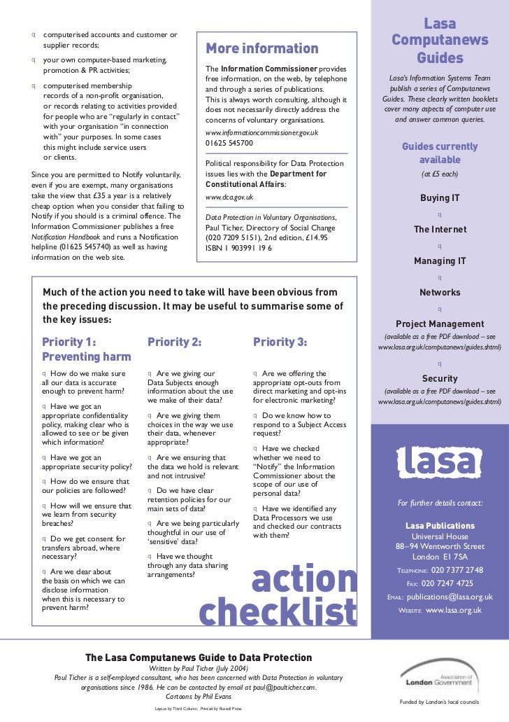 data protection guide In may 2016, after four years of work, the european union (eu) published legislation which was the starting gun for the biggest shake-up of data protection.