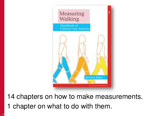 3 14 chapters on how to make measurements. 1 chapter on what to do with them.