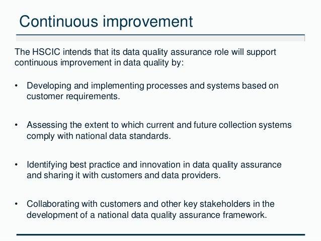 HSCIC: Improving Data Quality
