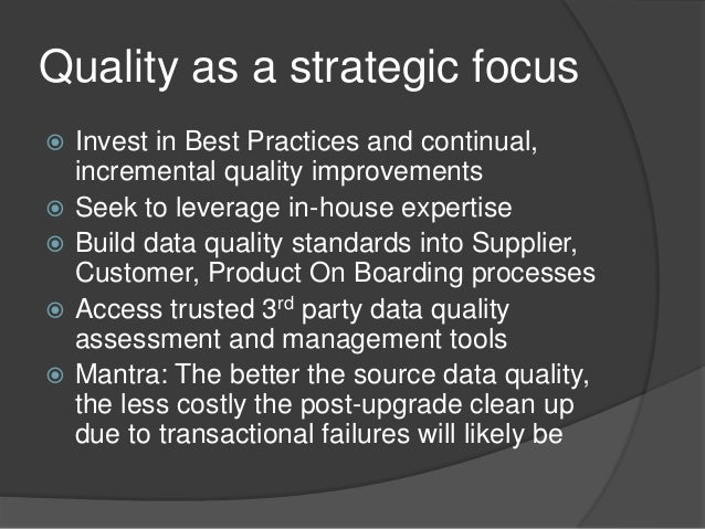 Data Quality Management and the Oracle eBS R12 upgrade - Overview