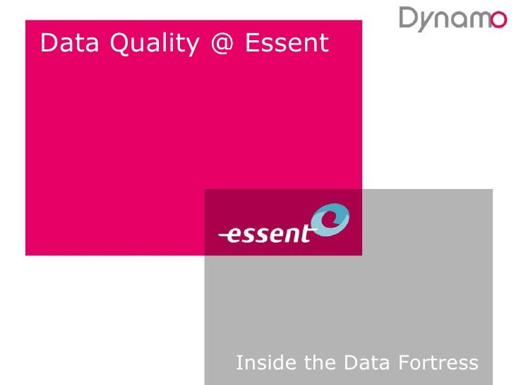 Data Quality @ Essent<br />Inside the Data Fortress<br />