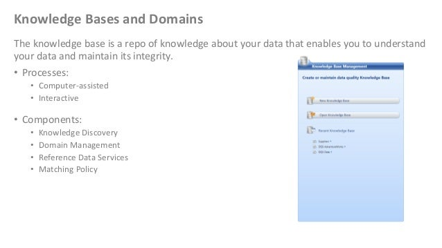 Knowledge Bases and DomainsThe knowledge base is a repo of knowledge about your data that enables you to understandyour da...
