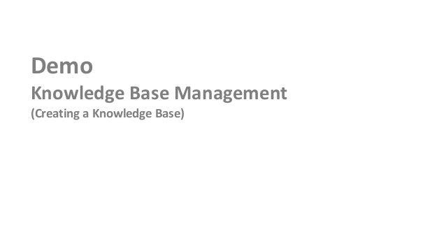 DemoKnowledge Base Management(Creating a Knowledge Base)