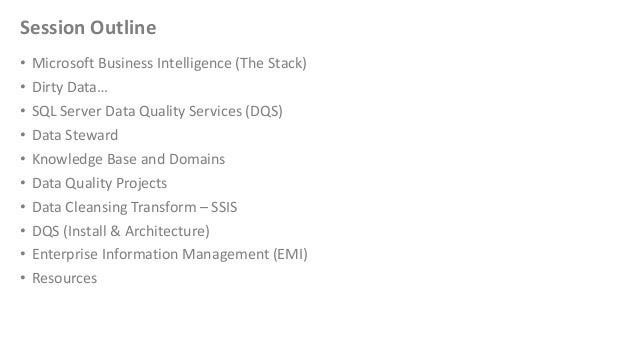 Data Quality Services in SQL Server 2012 Slide 3