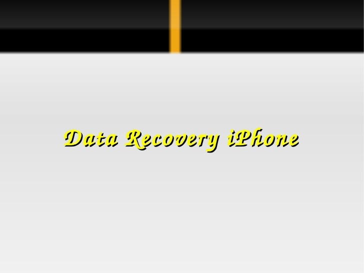Data Recovery iPhone