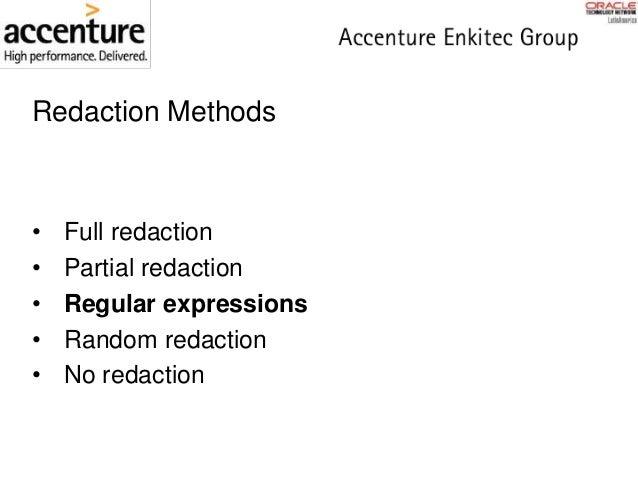 Oracle Database 12c - Data Redaction