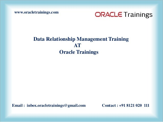 drm oracle data relationship management