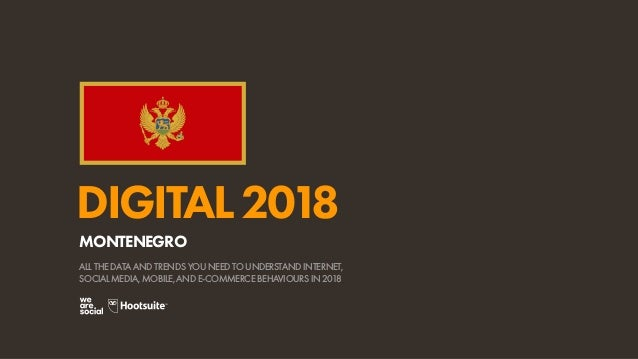 Digital 2018 Montenegro January 2018