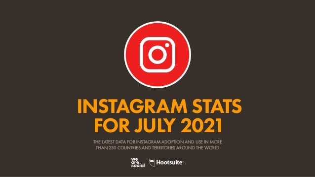 INSTAGRAM STATS FOR JULY 2021 THE LATEST DATA FOR INSTAGRAM ADOPTION AND USE IN MORE THAN 230 COUNTRIES AND TERRITORIES AR...