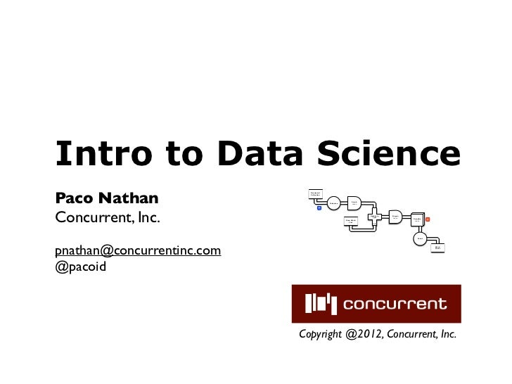 Intro to Data SciencePaco Nathan                              Document                              Collection            ...