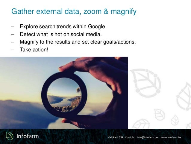 Gather external data, zoom & magnify  – Explore search trends within Google.  – Detect what is hot on social media.  – Mag...