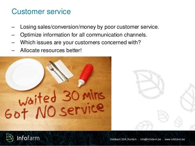 Veldkant 33A, Kontich ● info@infofarm.be ● www.infofarm.be  Customer service  – Losing sales/conversion/money by poor cust...