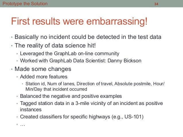 First results were embarrassing! • Basically no incident could be detected in the test data • The reality of data scienc...