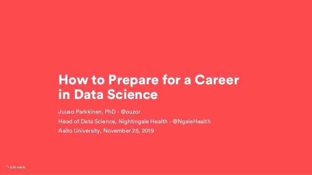How to Prepare for a Career in Data Science Slide 2