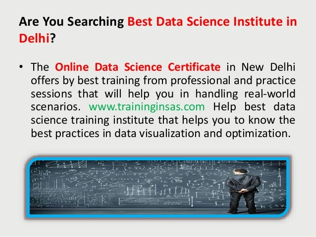 Data Science Course Training & Certification in Delhi