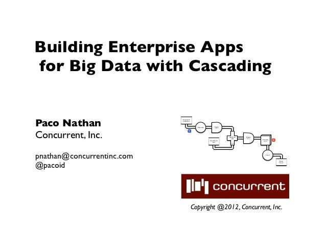 Building Enterprise Appsfor Big Data with CascadingPaco Nathan                            Document                        ...