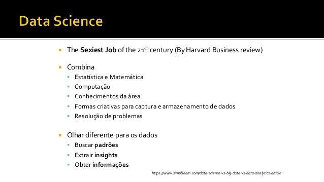  The Sexiest Job of the 21st century (By Harvard Business review)  Combina  Estatística e Matemática  Computação  Con...