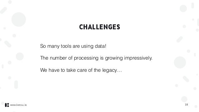 www.kensu.io CHALLENGES So many tools are using data! The number of processing is growing impressively. We have to take ca...
