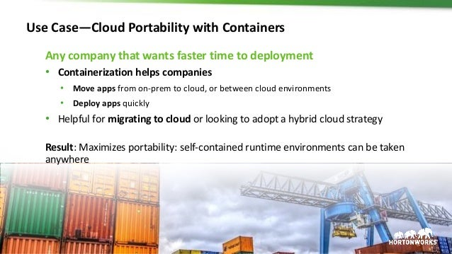 24 © Hortonworks Inc. 2011 – 2017. All Rights Reserved Use Case—Cloud Portability with Containers Any company that wants f...