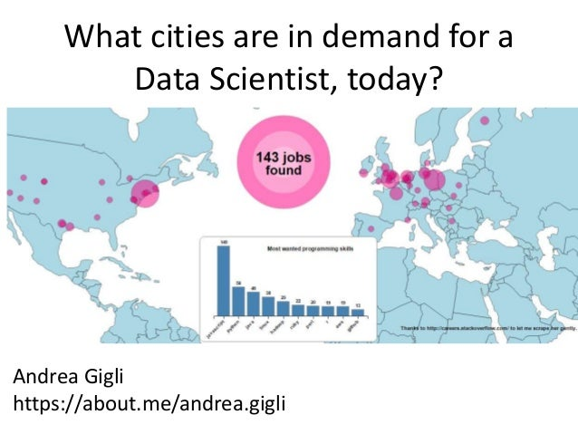 A data scientist job map visualization tool using python d3js and m what cities are in demand for a data scientist today gumiabroncs