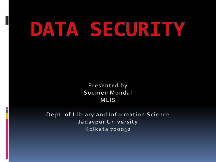 Objectives of this project To understand various  threats to data security. To know the background  of these threats. T...