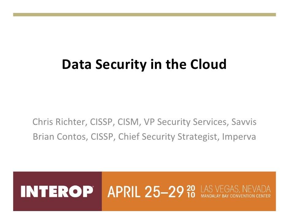 Data security in cloud