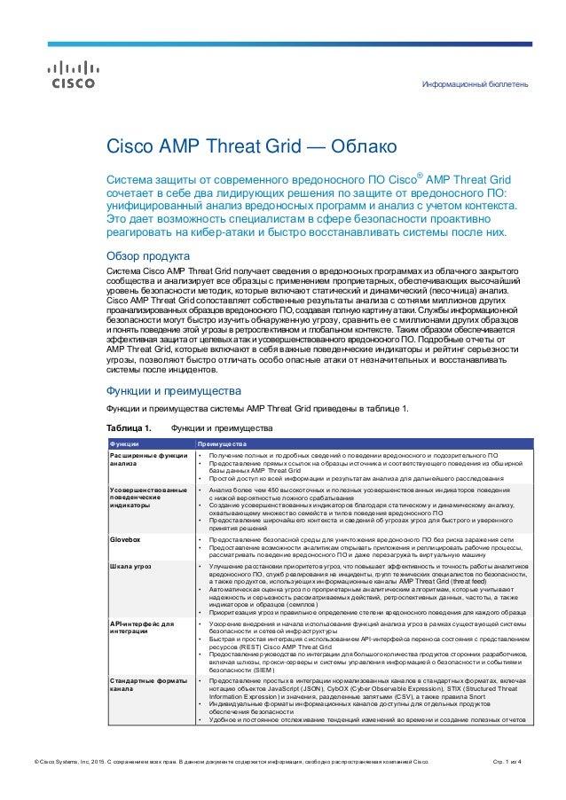 Информационный бюллетень © Cisco Systems, Inc, 2015. С сохранением всех прав. В данном документе содержится информация, св...