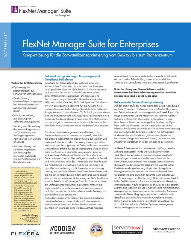 DATENBLATT Vorteile für Ihr Unternehmen • Optimierung des Lizenzverbrauchs zur Senkung von Softwarekosten • Gewährleistung...