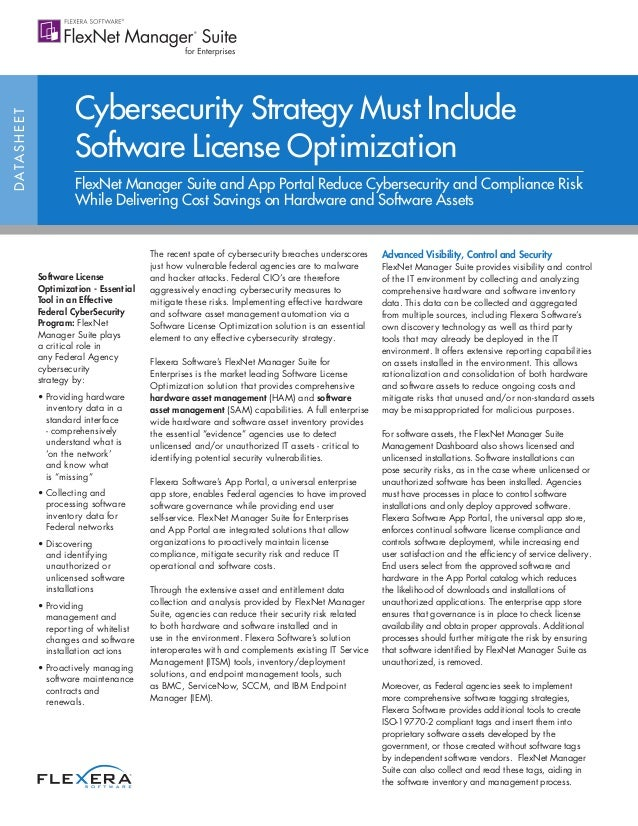 Cybersecurity Strategy Must Include Software License Optimization
