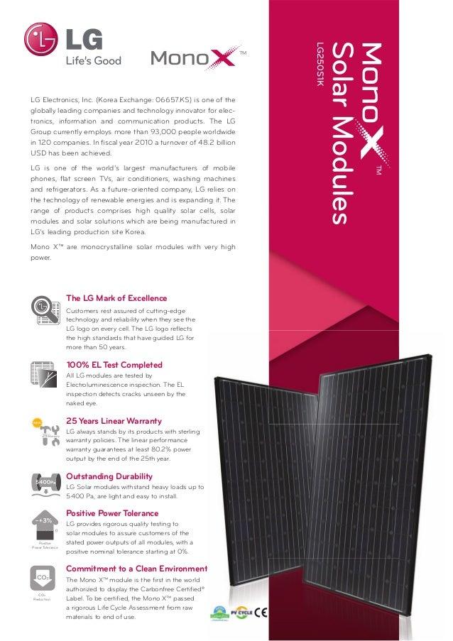 LG Solar Panels - Datasheet LG250 S1K Black-Black