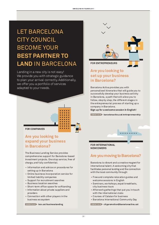 barcelona in figures 2017 38 Let Barcelona City Council become your best partner to land in Barcelona Landing in a new cit...